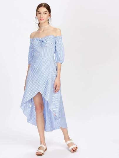 Bardot Tulip Hem Striped Dress