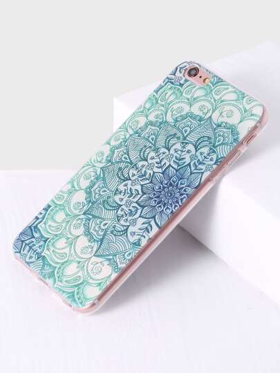 Funda para iphone con estampado de flor - verde