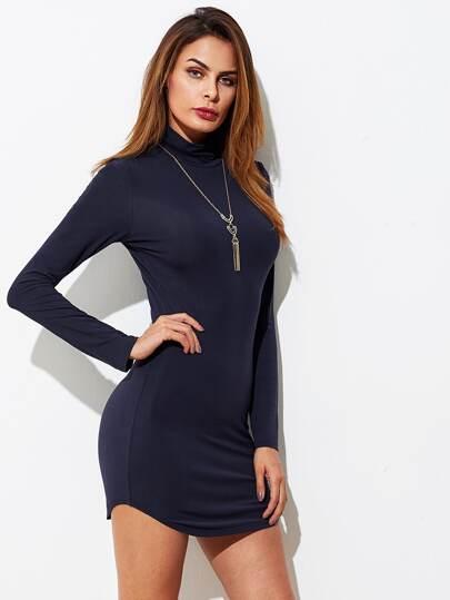 Kleid mit Kutte Kragen
