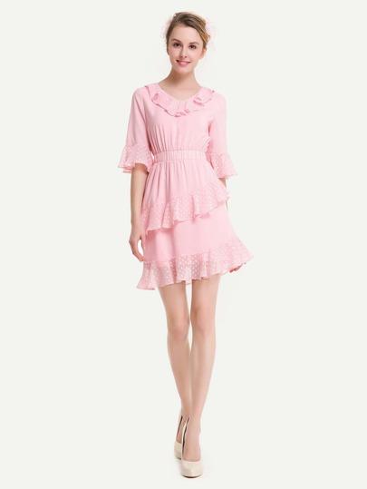 Tiered Frill Trim Dress
