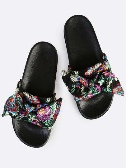 Bow Front Oriental Slides BLACK