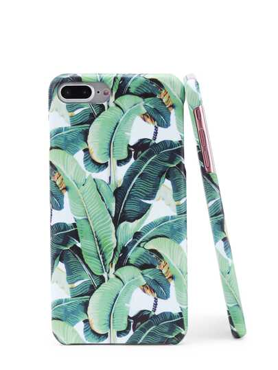 Cover per iphone con stampa di foglia
