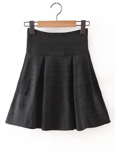 Falda brillante con cintura elástica