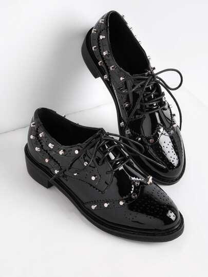 Chaussures en cuir à lacets