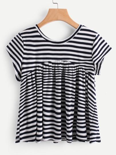 T-shirt a strisce a contrasto