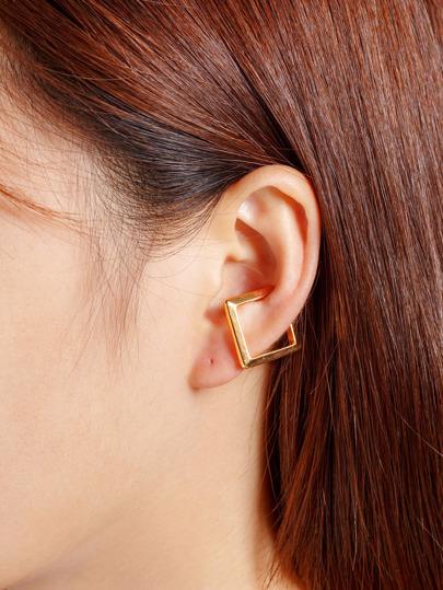 Metal Geometric Ear Cuff 1pc