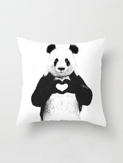غطاء وسادة بطباعة الباندا