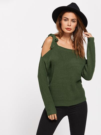 Self Tie Shoulder Jumper