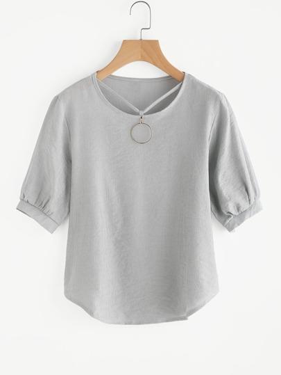 Bluse mit Träger und O-Ring Detail