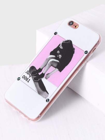 Skate Girl Print iPhone Case