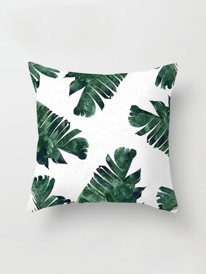 Funda de almohada con estampado de selva