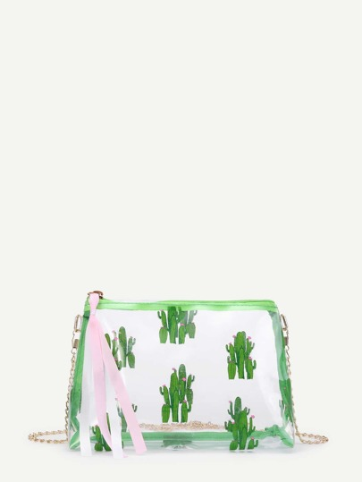 Cactus Print Chain Bag