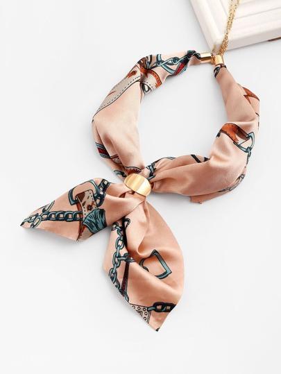 Pañuelo de satén vinculado con cadena