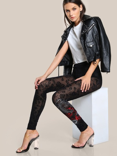 Dragon Print Leggings