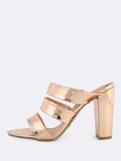 Metallic Tri-Band Heel ROSE GOLD