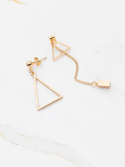 Minimalist Geometric Mismatch Earrings