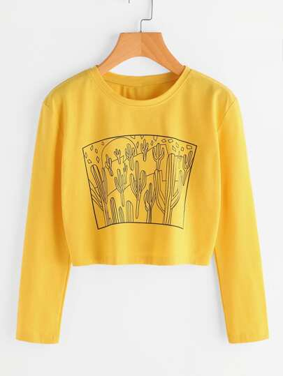 Cactus Stampa Tee