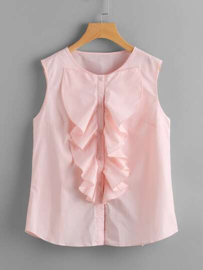 Bow Tie Back Blouse With Jabot