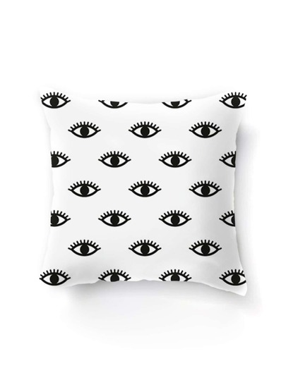 Contrast Eye Print Pillowcase Cover