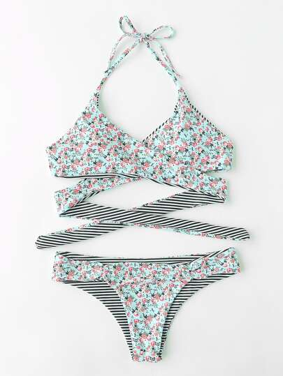 Conjunto de bikini con estampado