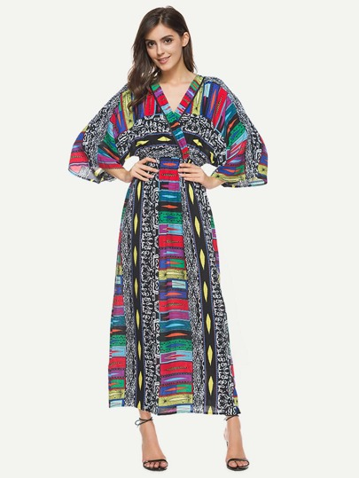 Vestito lungo stampato