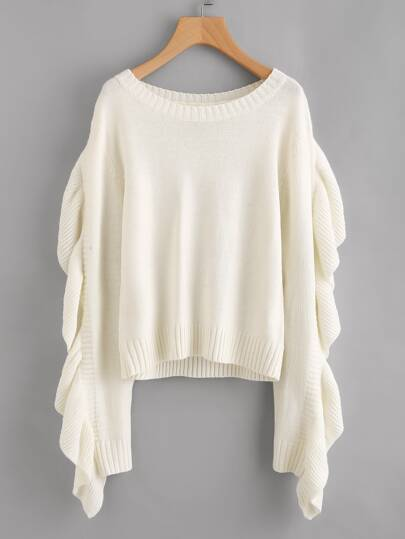 Pullover mit schößchem Saum