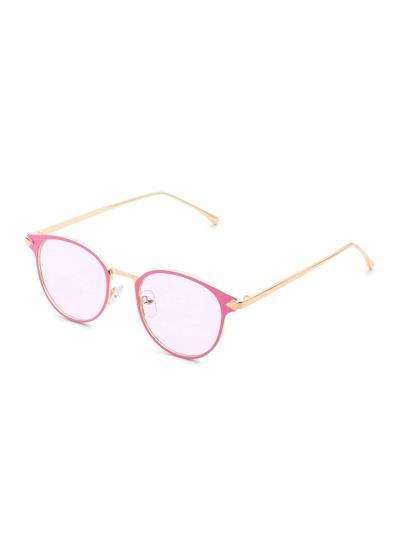 Contrast Frame Tinted Lens Glasses