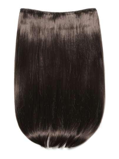 Choc Braun Clip in glatter Haarverlängerung