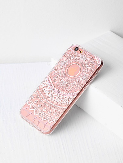 Tribal Flower Pattern iPhone Case