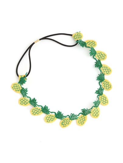 Embroidery Pineapple Hair Band