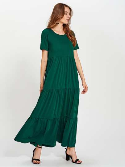 Tiered Detail Maxi Dress