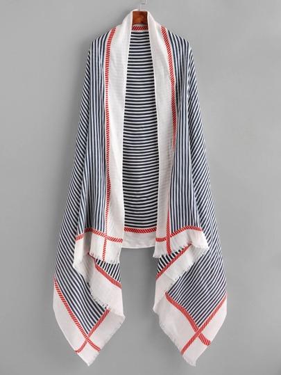 Schal mit Streifen und Fransen
