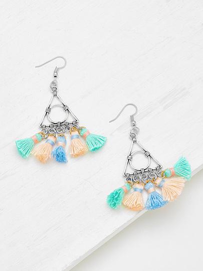 Glamorous Multi Tassel Statement Earrings