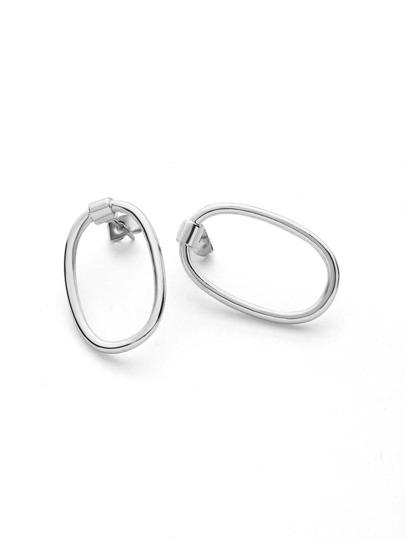 Minimalist O Ring Hoop Drop Earrings