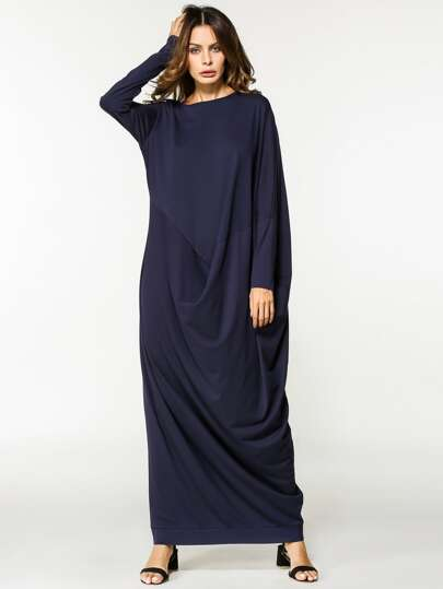 Dolman Sleeve Crepe Cocoon Dress
