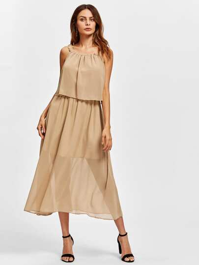 Chiffon Layered Infinity Dress