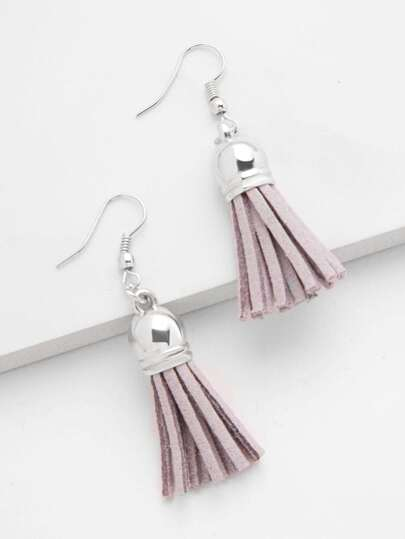 Minimalist Tassel Drop Earrings