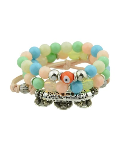 Colorful Multi-Layer Copper Beaded Bracelet