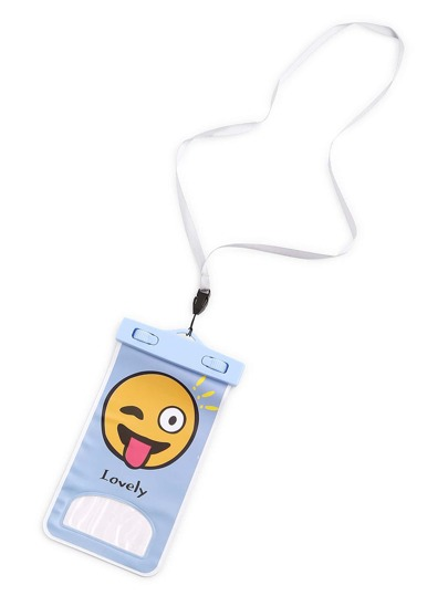 Emoji Print Waterproof Phone Bag