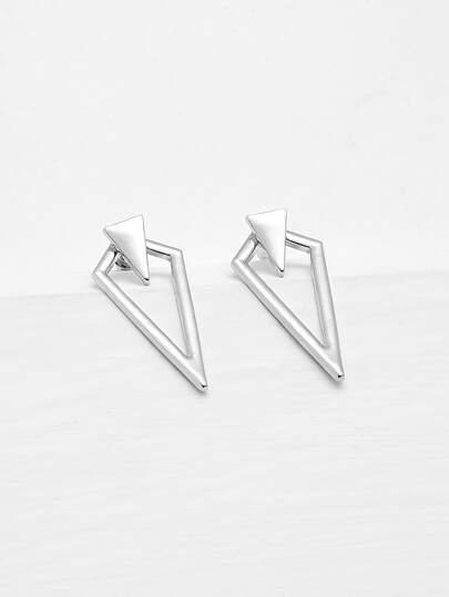 Metal Triangle Design Geometric Earrings