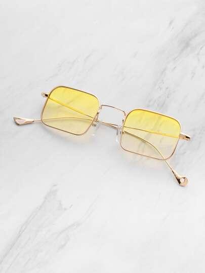 Gafas de sol con lente sombreado cuadrado