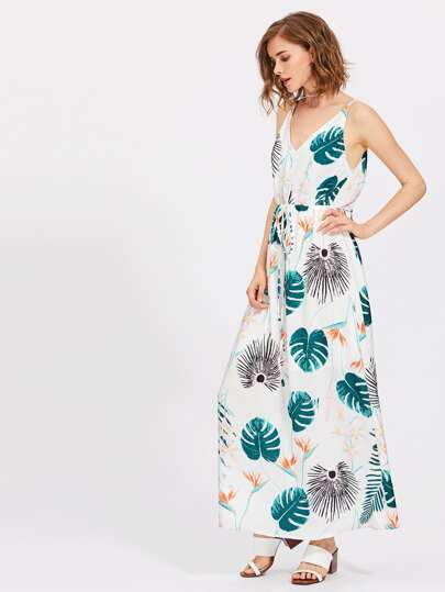 All Over Botanical Print Cami Dress