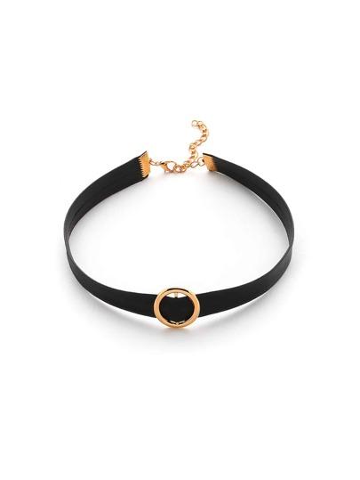 Модное кожаное ожерелье