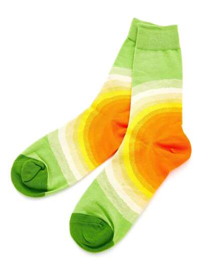 Ombre Circle Calf Length Socks