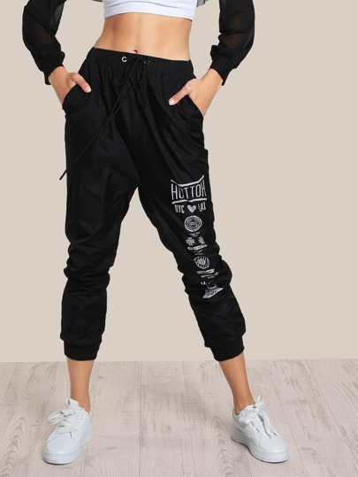 Drawstring Jogger Pants BLACK