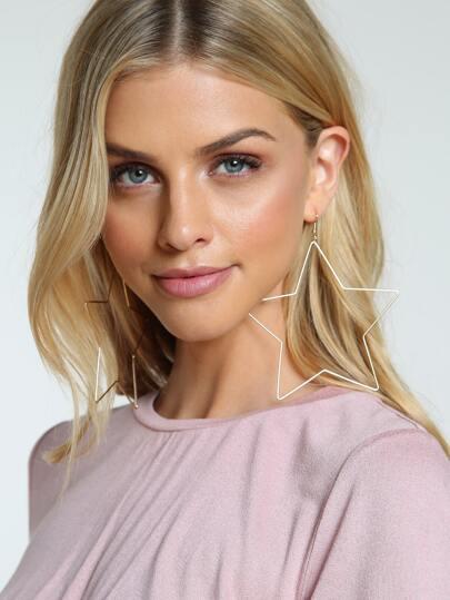 Star Hoop Earrings GOLD