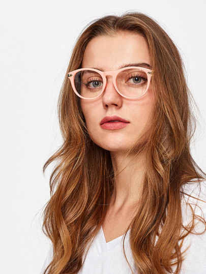 Contrast Frame Clear Lens Glasses