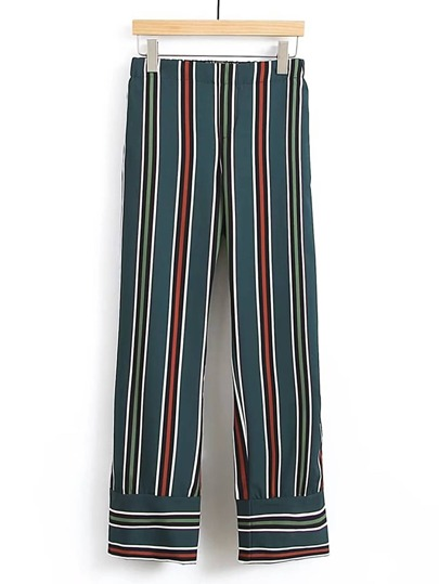 Straight Leg Striped Pants