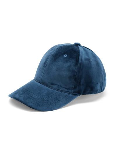 Gorra de béisbol de terciopelo