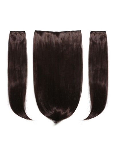 3 piezas de extensiones para el pelo recto negro cereza